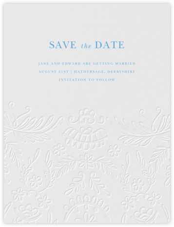 Brushed Lace - Blind Deboss (Save the Date) - Oscar de la Renta -