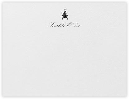Brass Beetle - Black - Oscar de la Renta - Personalized Stationery