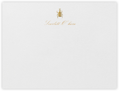 Brass Beetle - Medium Gold - Oscar de la Renta - Personalized Stationery