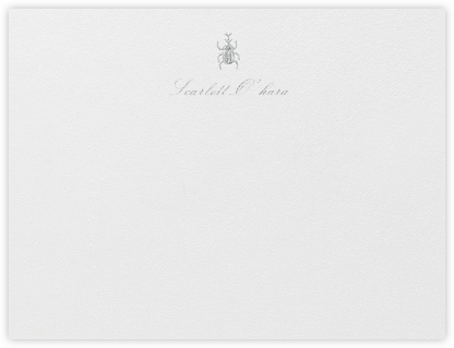 Brass Beetle - Platinum - Oscar de la Renta - Personalized Stationery