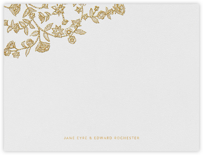 Stitched Floral - Medium Gold (Thank You) | null
