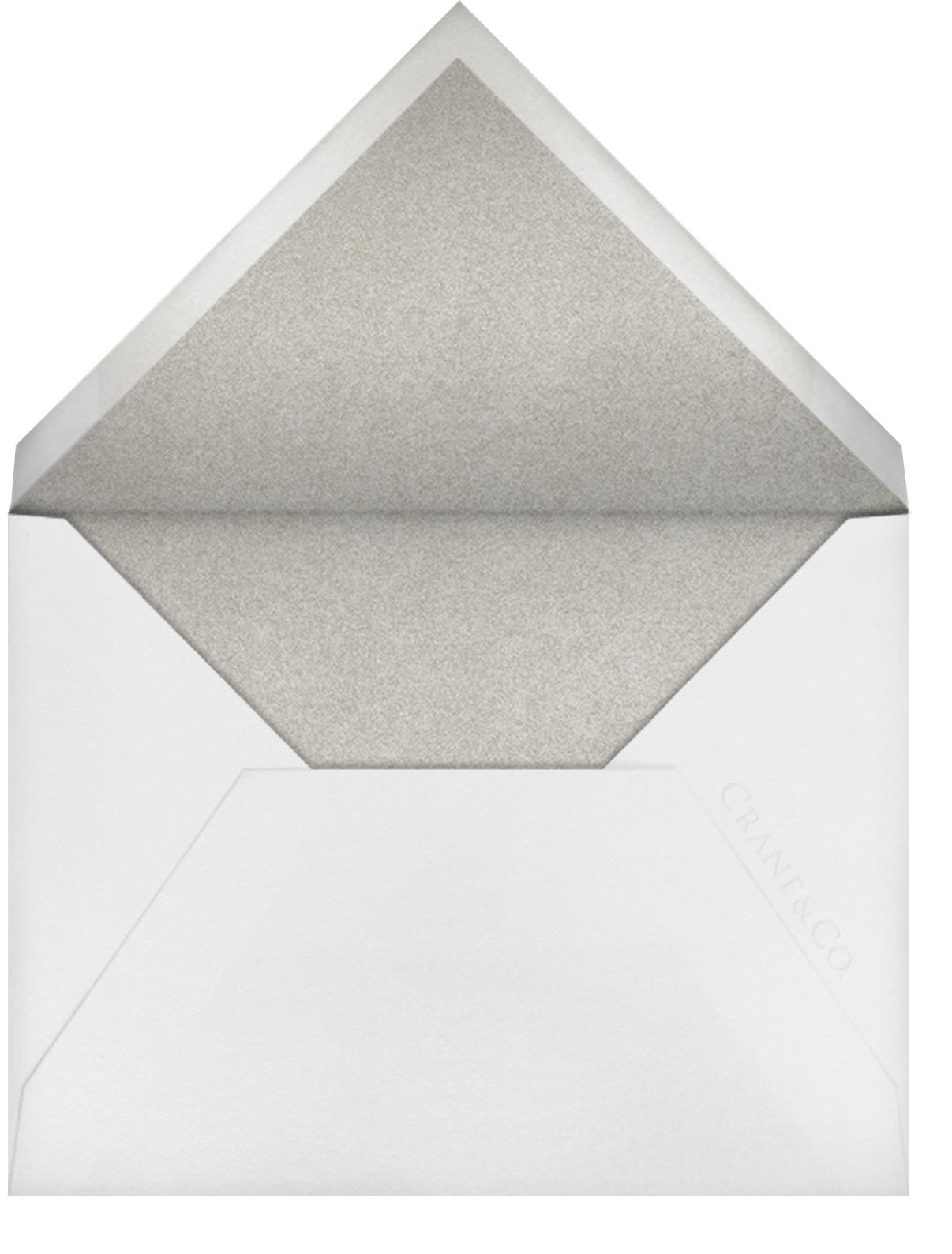 Stitched Floral I - Platinum (Save the Date) - Oscar de la Renta - Envelope