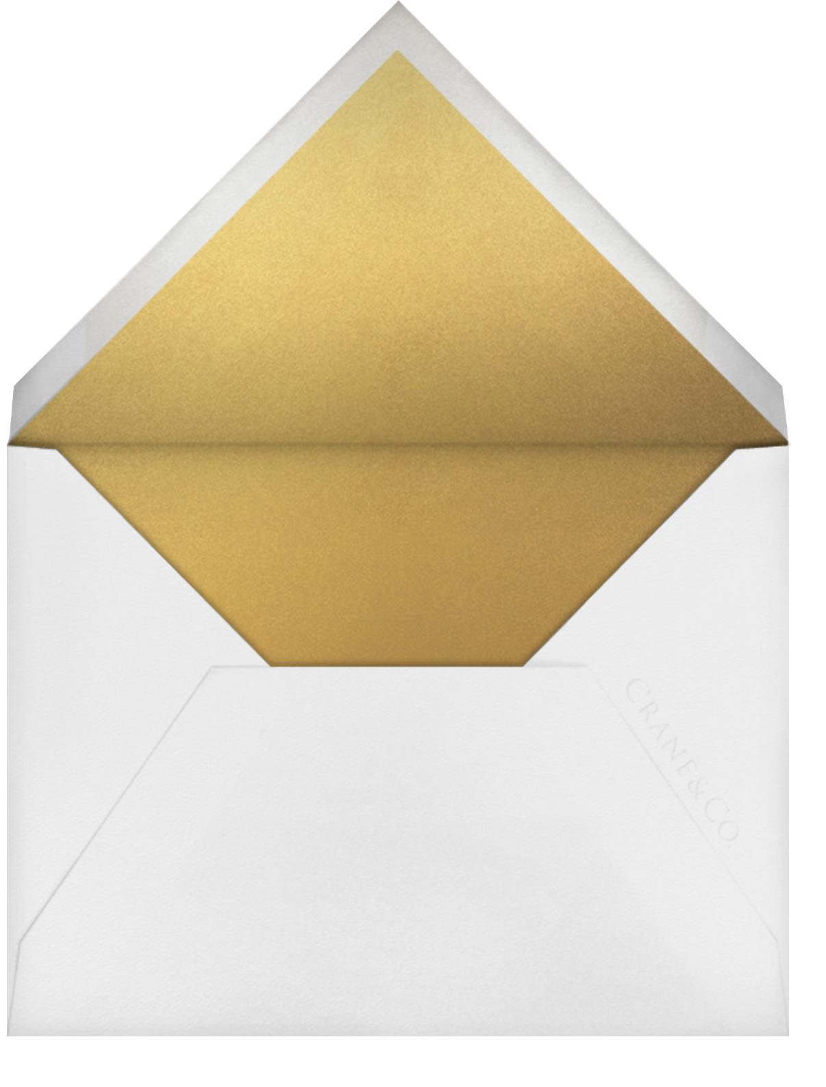 Stitched Floral I - Medium Gold (Save the Date) - Oscar de la Renta - Envelope