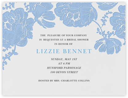 Audrey I (Save The Date) - Newport Blue - Paperless Post - Bridal shower invitations