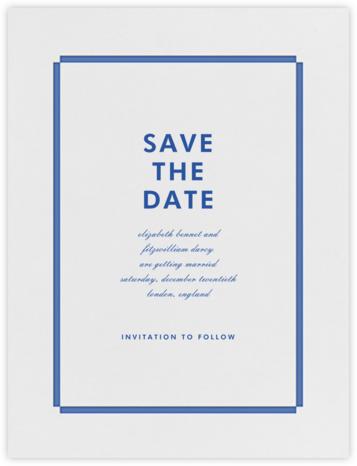Lyman (Save the Date) - Regent Blue - Paperless Post -