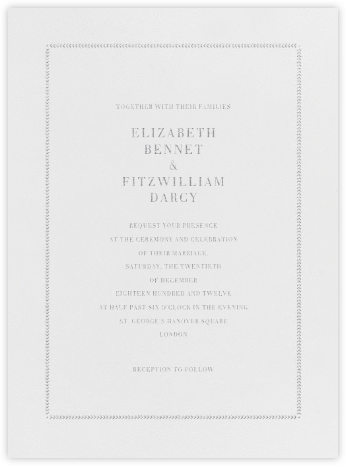 Diana - Platinum - Paperless Post - Wedding Invitations