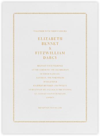 Diana - Medium Gold - Paperless Post - Classic wedding invitations