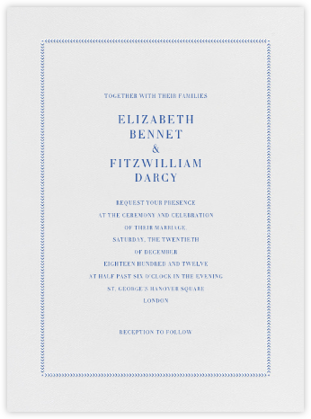 Diana - Regent Blue - Paperless Post - Wedding Invitations