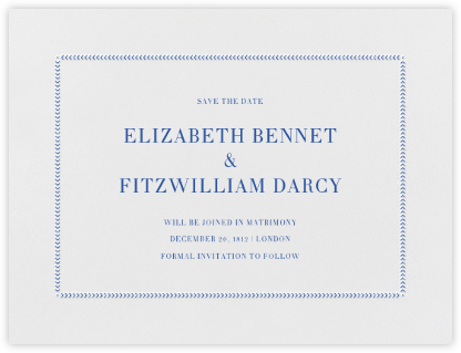 Diana (Save The Date) - Regent Blue | null