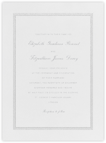 Whitby - Platinum - Paperless Post - Wedding Invitations