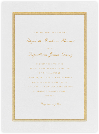 Whitby - Medium Gold - Paperless Post - Wedding invitations