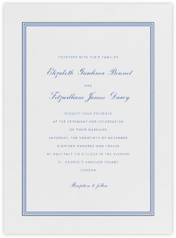 Whitby - Regent Blue - Paperless Post - Classic wedding invitations