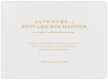 Marchmain - Medium Gold - Paperless Post - Classic wedding invitations