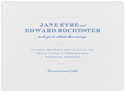 Marchmain - Regent Blue - Paperless Post - Wedding Invitations