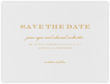 Marchmain (Save the Date) - Gold - Paperless Post - Save the dates