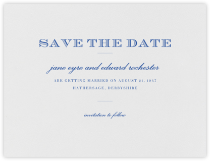 Marchmain (Save The Date) - Regent Blue - Paperless Post - Save the dates