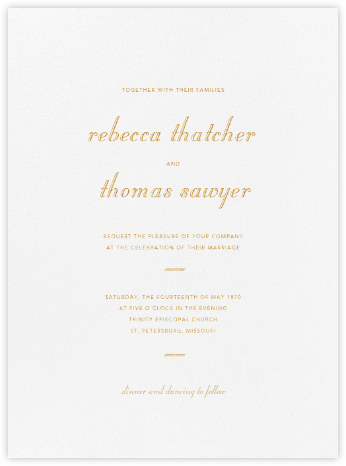 Gardener - Gold - Paperless Post - Wedding Invitations