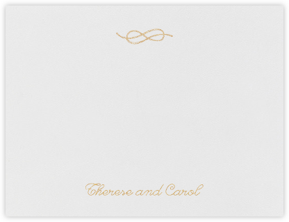 Josephine (Stationery) - Gold - Paperless Post - Stationery