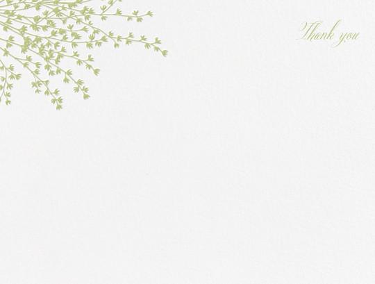 Forsythia (Stationery) - Celery - Crane & Co. - Wedding thank you notes