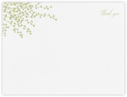 Forsythia (Stationery) - Celery - Crane & Co. - Wedding thank you cards