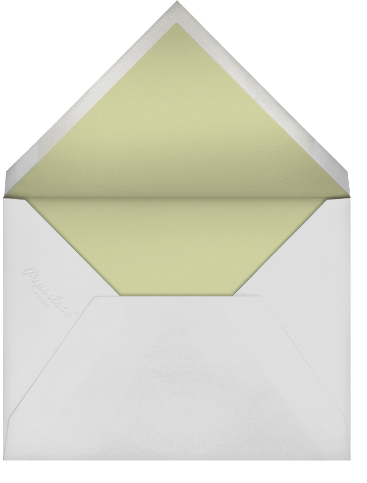 Saranac (Thank You) - Celery - Crane & Co. - Sympathy - envelope back