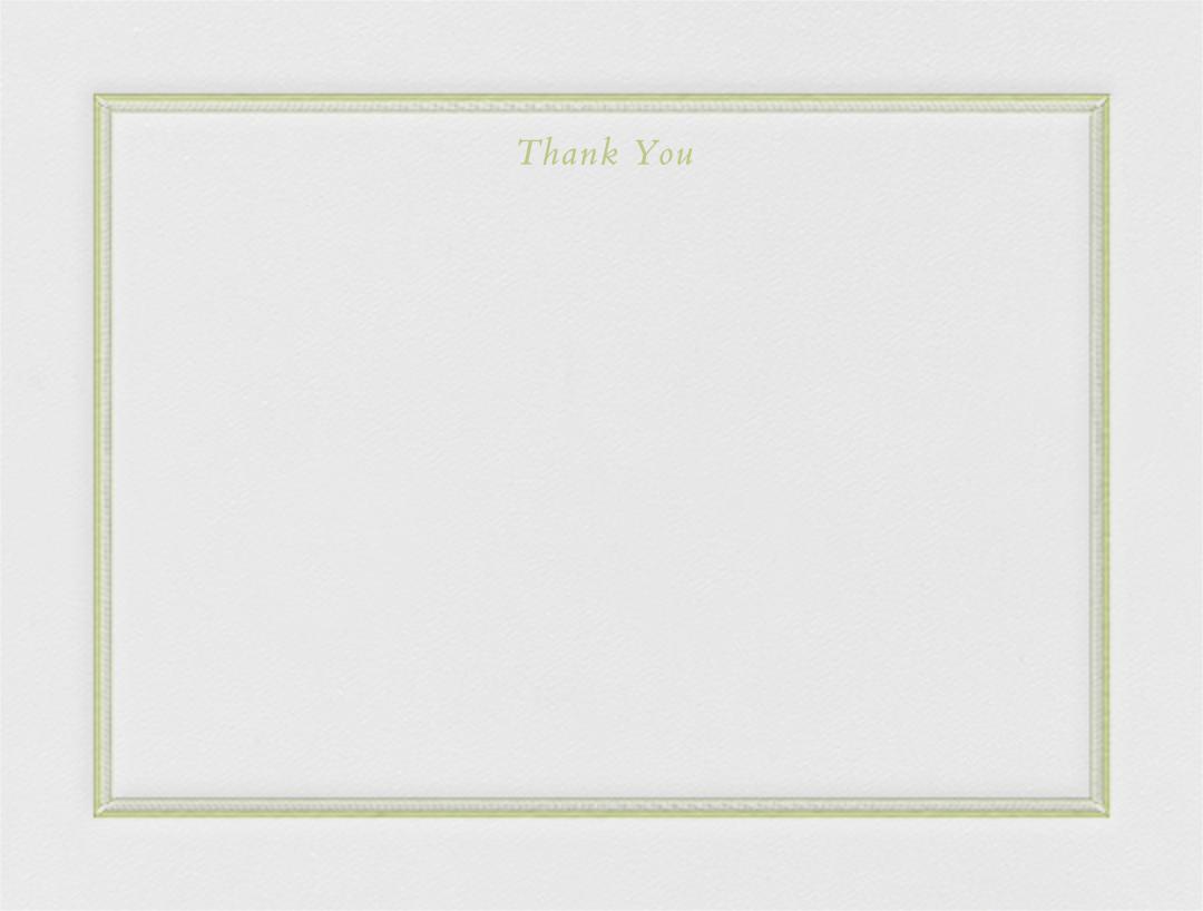 Saranac (Thank You) - Celery - Crane & Co. - Wedding thank you notes