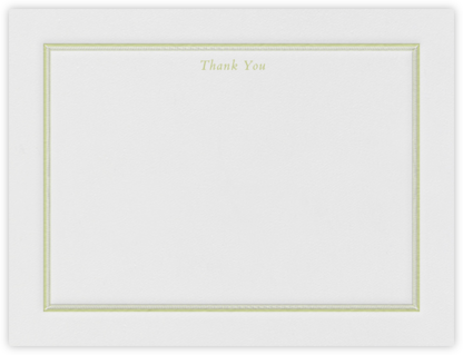 Saranac (Thank You) - Celery - Crane & Co. - Wedding thank you cards