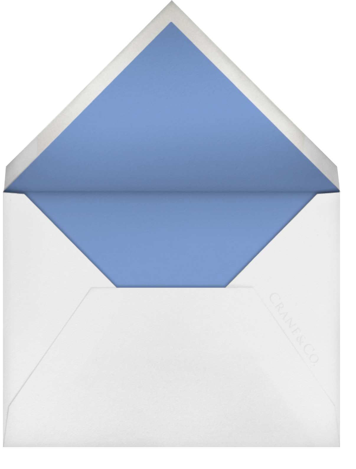 Painted Border - Newport Blue - Paperless Post - Personalized stationery - envelope back
