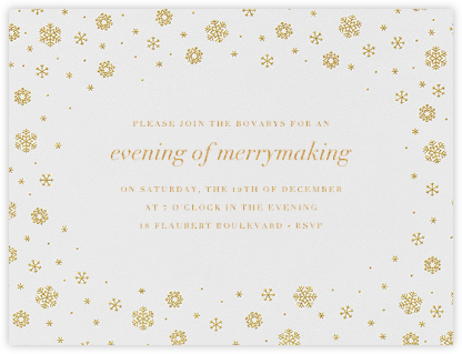 White Out I - Gold - Paperless Post - Winter Party Invitations