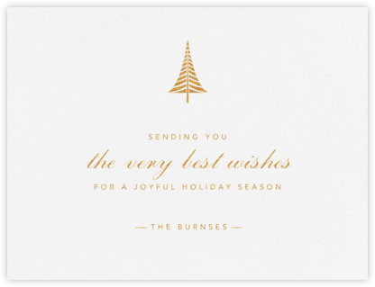 Bethlehem Conifer - Gold - Paperless Post - Holiday Cards