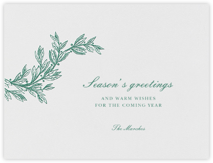 Winter Sprig I - Hunter Green - Paperless Post - Company holiday cards
