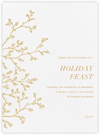Winter Berries - White/Gold - Paperless Post