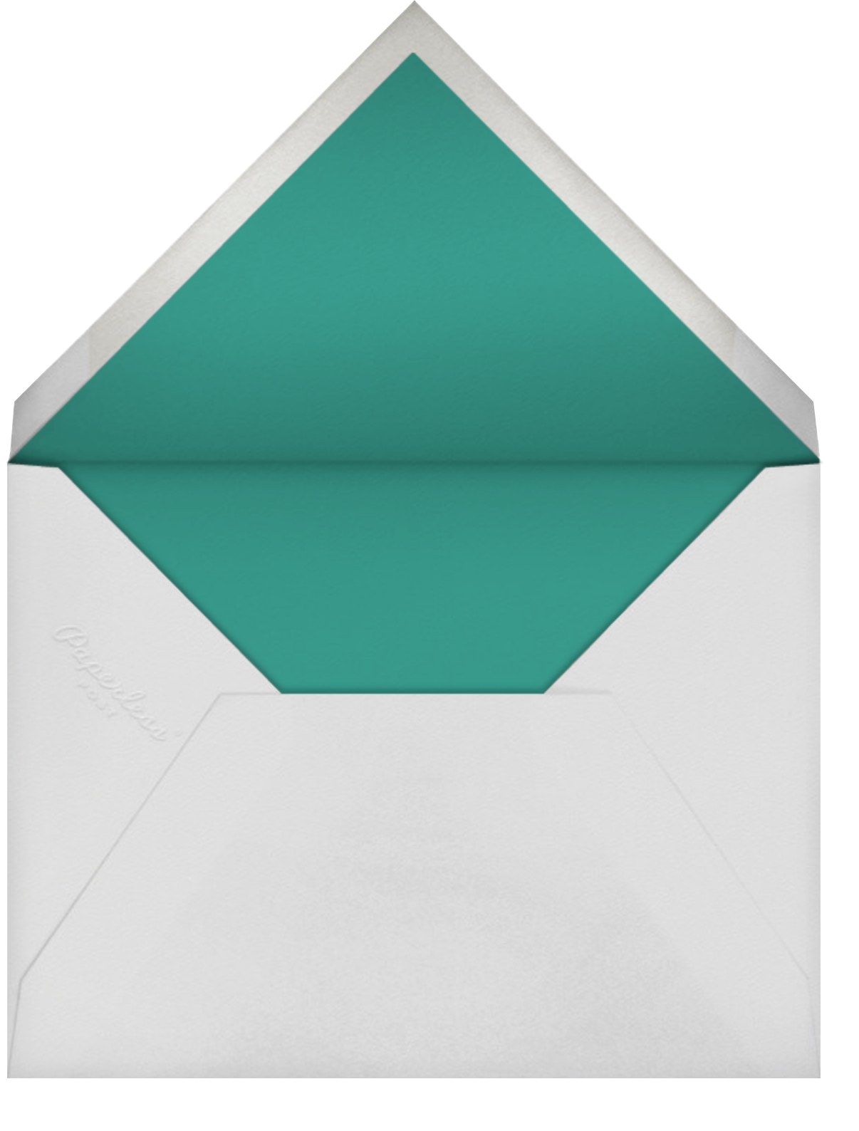 Winter Garden I (Invitation) - Hunter Green - Paperless Post - Winter parties - envelope back