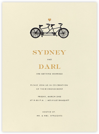 Tandem I (Invitation) - kate spade new york - kate spade new york