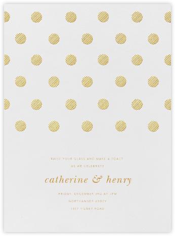 Polka Dot - Medium Gold - Oscar de la Renta - Rehearsal dinner invitations