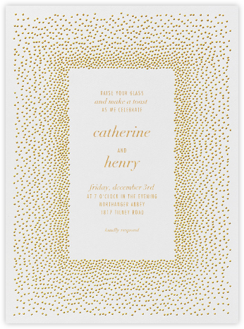 Jubilee I - Medium Gold - Kelly Wearstler - Engagement party invitations