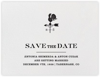 Granary (Save the Date) - Black | null