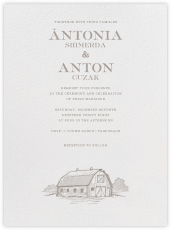 Granary - Taupe - Paperless Post - Wedding Invitations