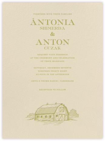 Granary - Moss - Paperless Post - Wedding Invitations