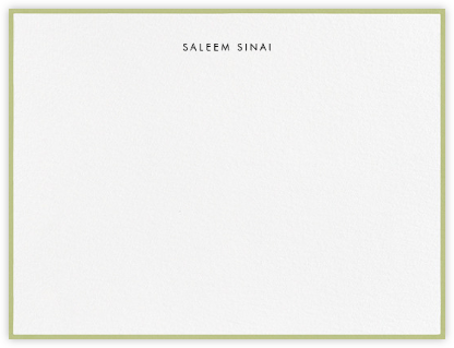 Painted Border - Celery - Paperless Post - Personalized Stationery