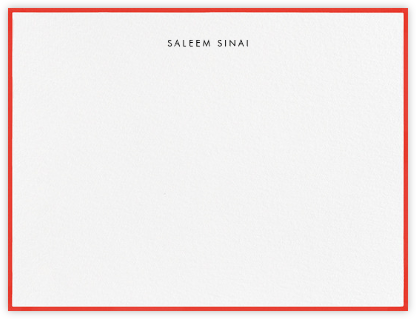 Painted Border - Geranium - Paperless Post - Personalized Stationery