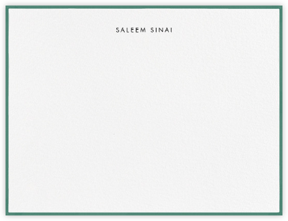Painted Border - Hunter Green - Paperless Post - Personalized Stationery