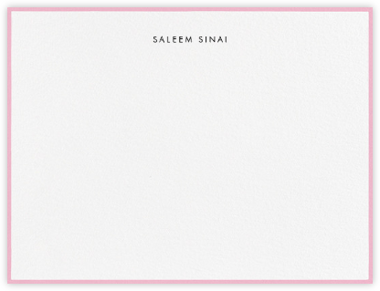 Painted Border - Peony - Paperless Post - Personalized Stationery
