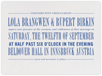 Assemblage I - Regent Blue - Paperless Post - Modern wedding invitations