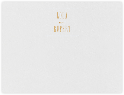 Assemblage I (Stationery) - Gold - Paperless Post - Personalized Stationery