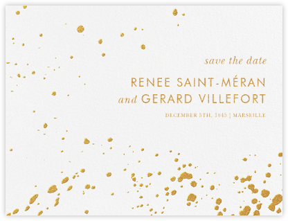 Splatter Cloth I (Save the Date) - Gold - Paperless Post -