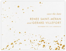 Splatter Cloth I (Save the Date) - Gold