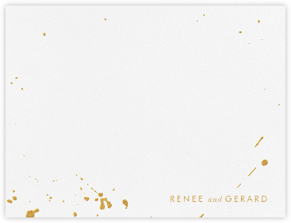 Splatter Cloth I (Stationery) - Gold - Paperless Post - Personalized Stationery
