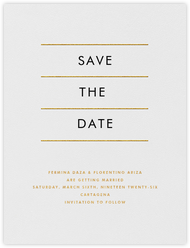 Lineal I (Save the Date) - Gold