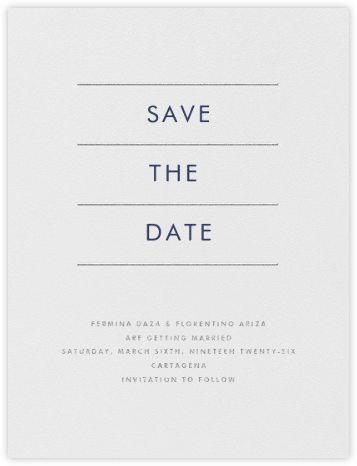 Lineal I (Save the Date) - Silver   null